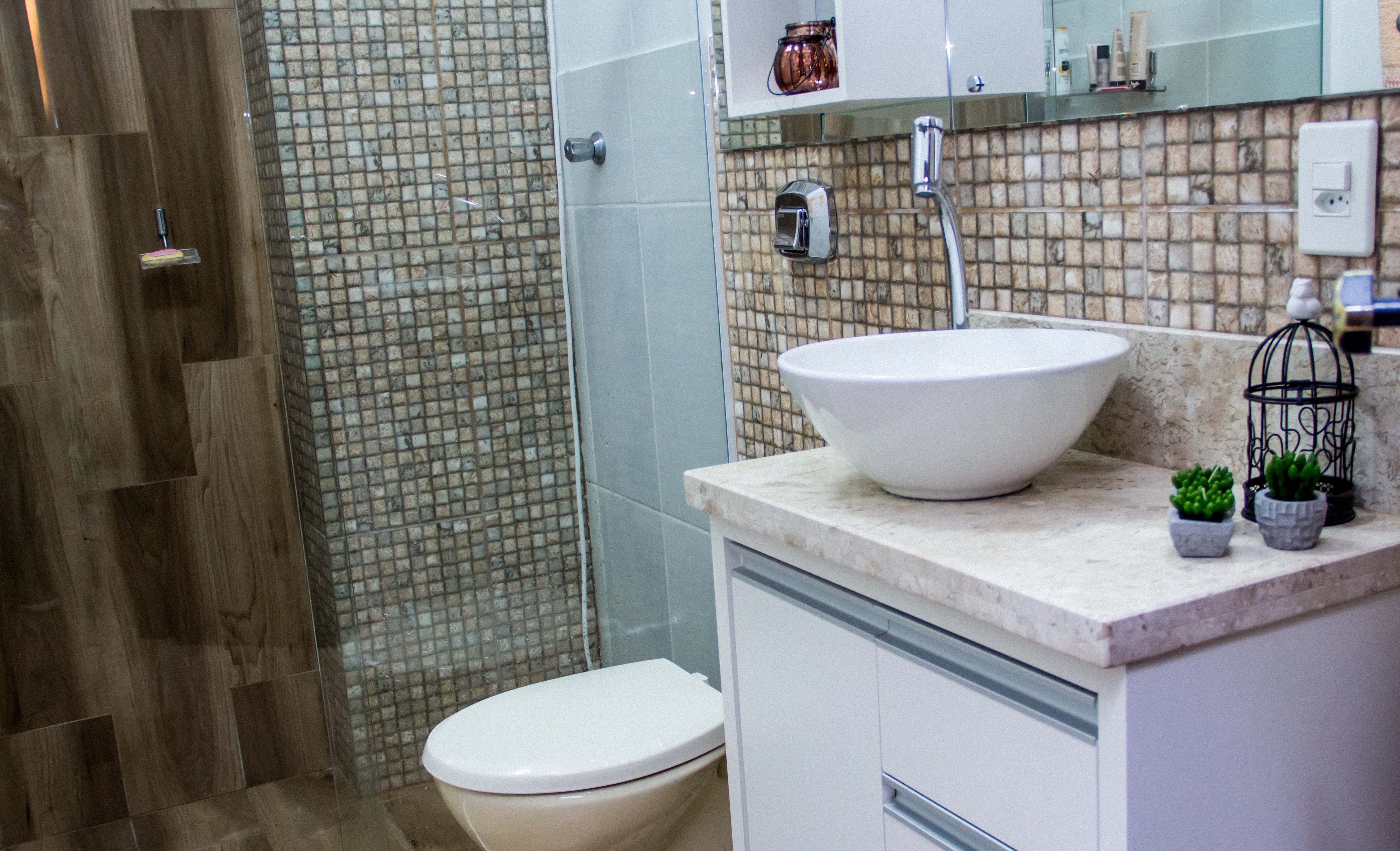 Banheiros Sob Medida Banheiros Planejados em Blumenau #3B3325 4923 2992